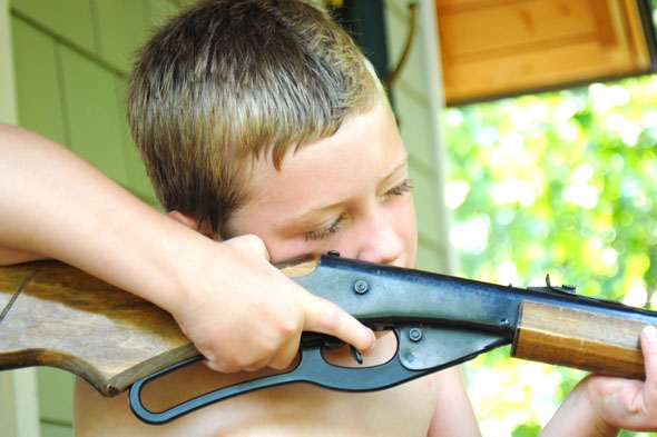 Postman shot between the eyes by eight-year-old with air rifle