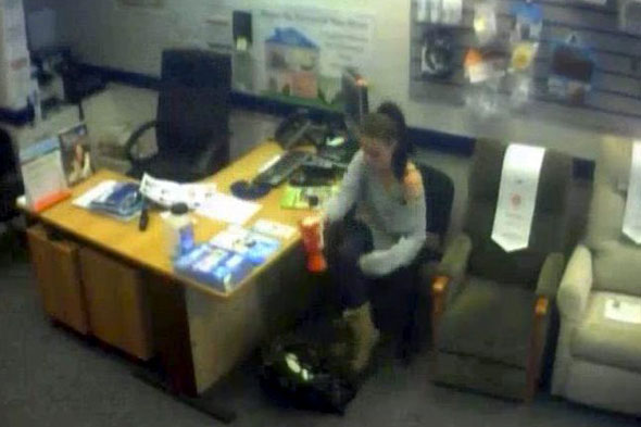 Mum caught on CCTV stealing charity collection box in front of her five-year-old son