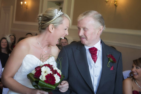 Father-of-bride died of heart attack as he rose to speak at daughter's wedding