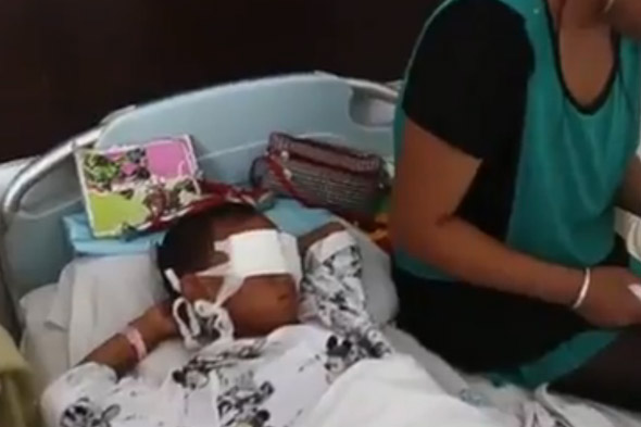 Chinese boy who had eyes gouged out fitted with eyeball implants