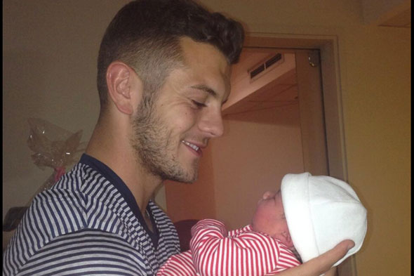 My, my, MY Delilah! Arsenal star Jack Wilshere shares first pic of baby daughter