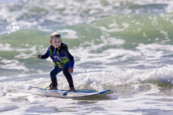 Meet Triston, the world's youngest surfer - aged THREE