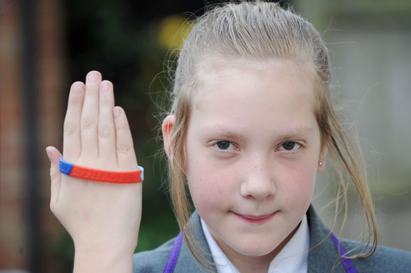 Schoolgirl ordered to stop wearing Help The Heroes wristband over health and safety fears