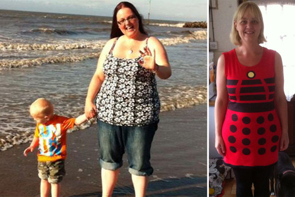 Brother's death spurs 19st mum into weight loss action