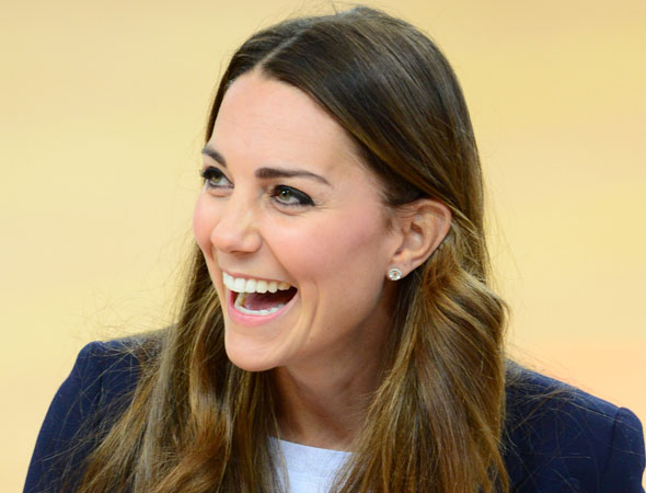 Duchess of Cambridge visits the Olympic Park - five days before Prince George's christening