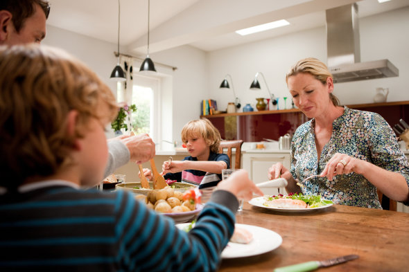 Half of families never sit down together at mealtimes