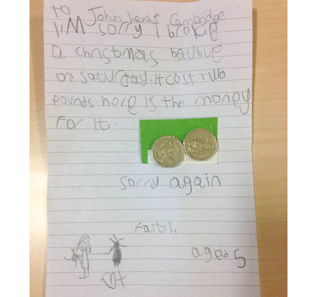 John Lewis bauble apology: #findFaith is found - but she's too shy to talk