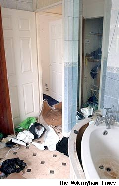 Bathroom destroyed growing cannabis