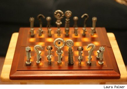 Laura Palmer, steampunk chess, steampunk