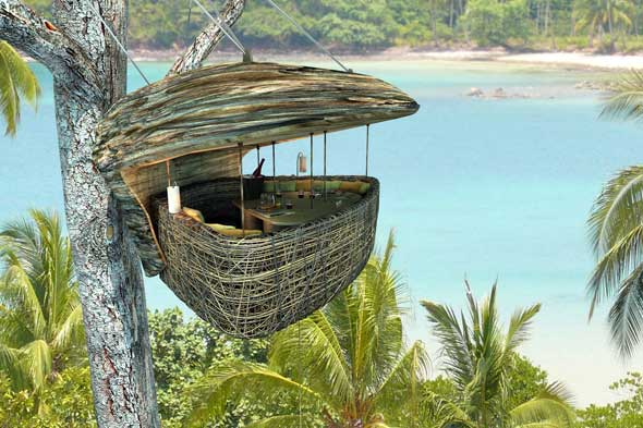 dinning room in a tree Thailand