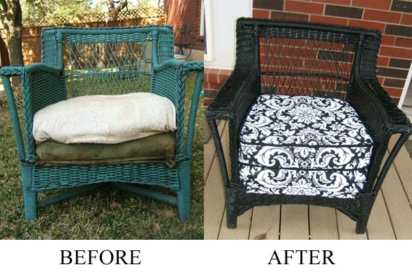 indoor wicker wicker before and after