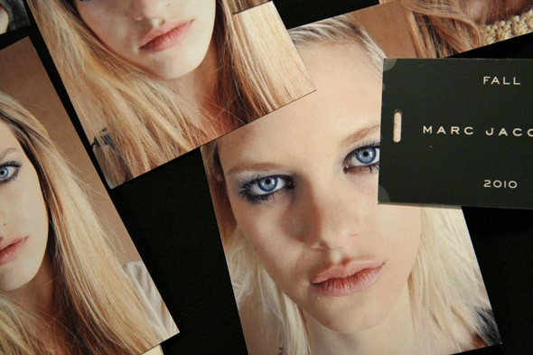 backstage at Marc Jacobs