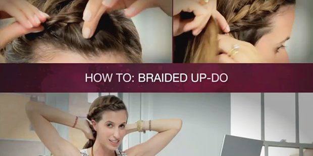 How To: Springtime's Perfect Braided Updo
