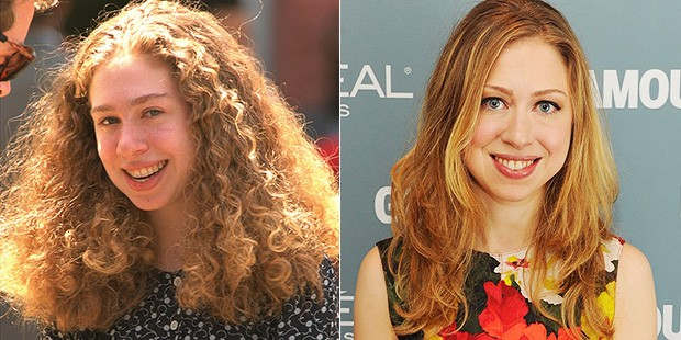 Chelsea Clinton's hair transformation