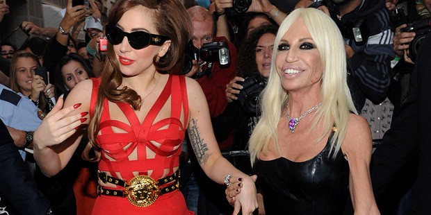 Gaga Steps Out with Versace