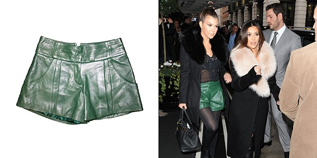 Kourtney Kardashian Spotted in Gabby Applegate Shorts