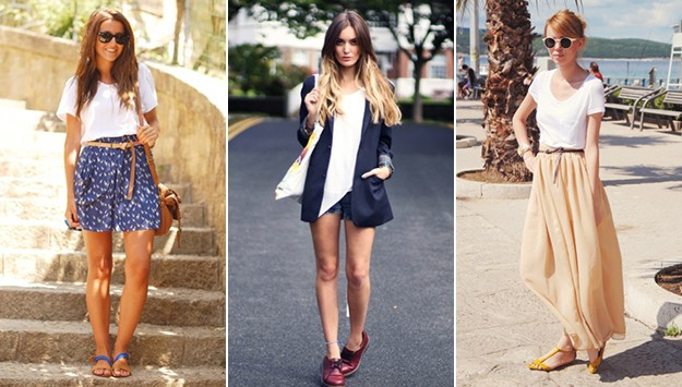 21 Stylish ways to wear a plain white t-shirt
