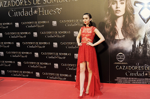 Lily Collins's stunning red carpet style