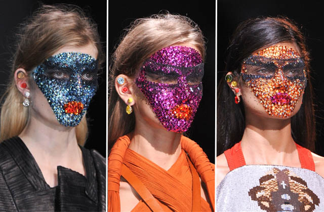 Did you see the crystal face masks at Givenchy spring 2014? They took 12 HOURS to apply!