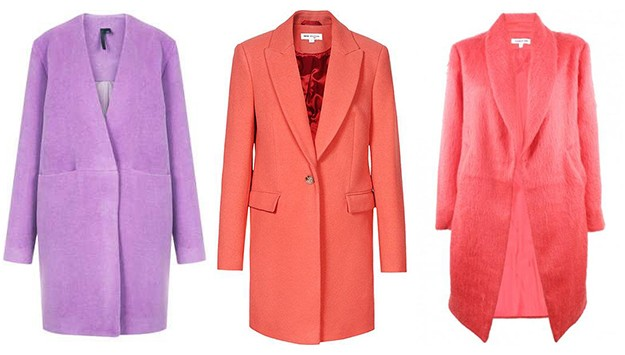 Shopping list: colorful coats