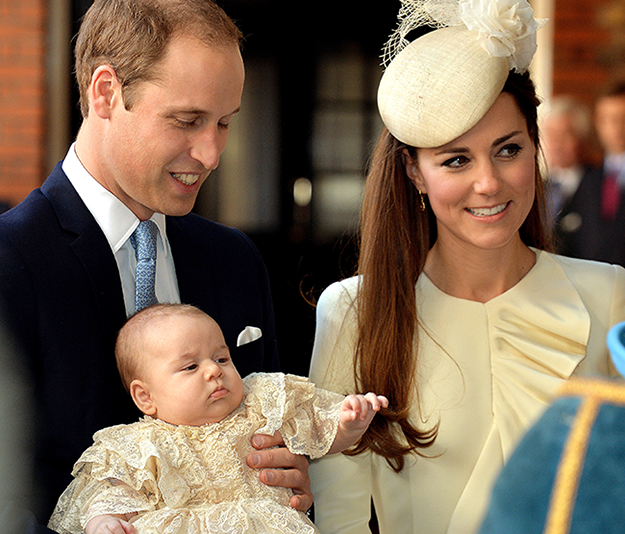 Prince George's Christenig day: the first photos of little George since August