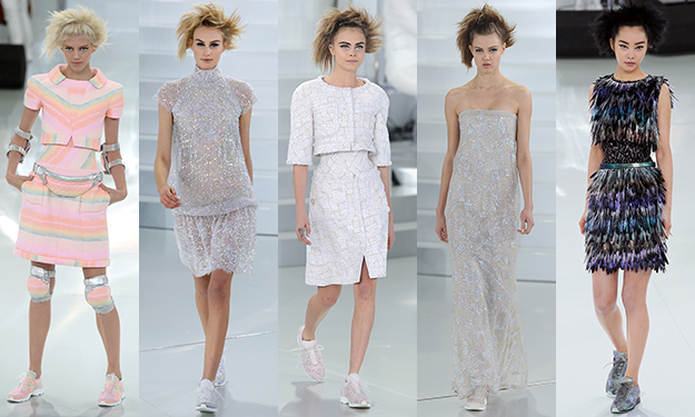 Sneakers and fanny packs at Chanel Spring 2014 couture