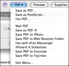 Save PDF to Evernote