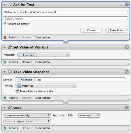Mac Automation: Using variables in Automator