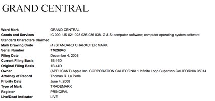 Apple applies for trademark on the