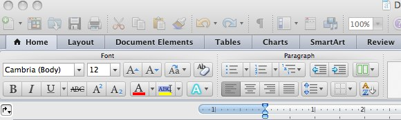 how to get toolbar back in word
