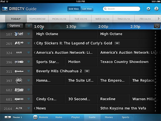 the directv ipad app in depth rh engadget com DirecTV Guide Schedule for Today direct tv program guide schedule march