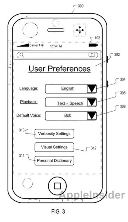 From AppleInsider: Illustration from Apple's patent application
