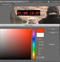 After Effects CS5.5 Timecode