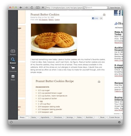 recipe database template