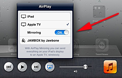 How to screen mirror on apple ipad