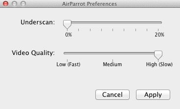 AirParrot mirrors your Mac display to Apple TV in real time