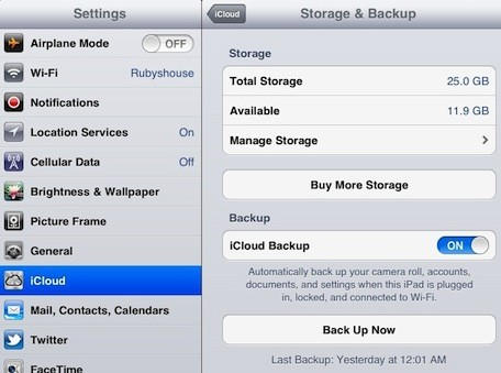 Chances Are Good That Your Ipad Has Automatically Backed Itself Up When It Is Plugged In At Night If Hasn T Met The Backup Criteria Of Being