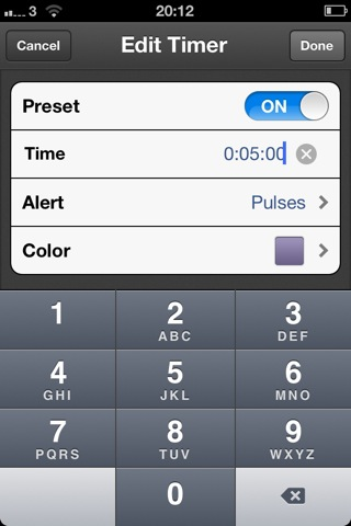 Timer a singleserving iPhone app for timing stuff