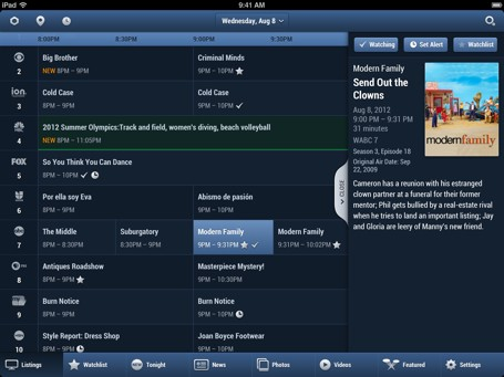 Updated TV Guide app includes celebrity watchlists and guest-curated