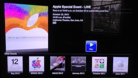 Apple adds 'Apple Events' channel to the Apple TV so viewers can watch iPad mini event live