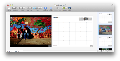 Build a Photo Calendar with Automator