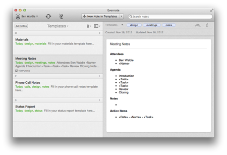 Create Evernote 5 template notebooks with AppleScript