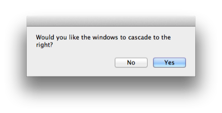 Cascade Finder Windows with AppleScript