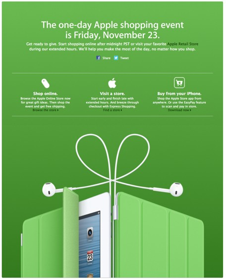 Apple highlights Black Friday shopping sale