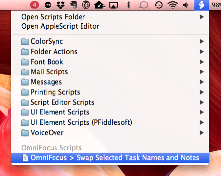 AppleScripting OmniFocus  Swap Task Names and Notes