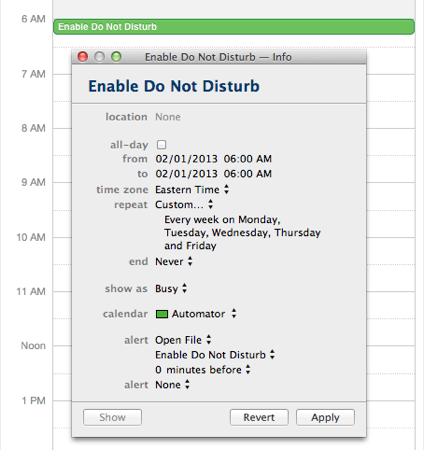 AppleScripting Notification Center  Scheduling Do Not Disturb