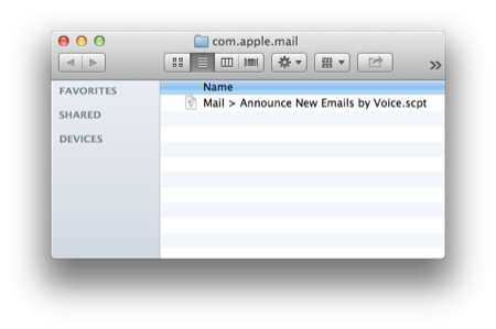 AppleScripting Mail  Announce New Emails By Voice