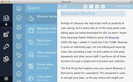 First Look Bluenote for Mac