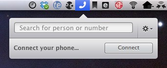 Talk to the Mac Dialogue lets you make, receive and record phone calls over your Mac